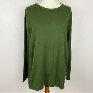 J. Jill Forest Green Comfy Pullover Sweater
